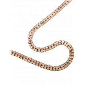Alloy Long Rhinestone Necklace -