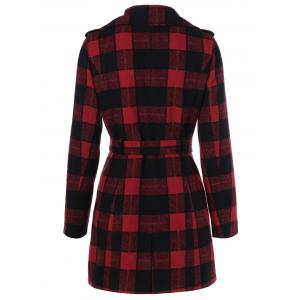 One Button Design Manteau Plaid - Carré XL