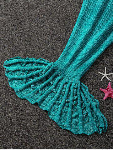 Best Winter Thicken Knitted Wrap Sofa Mermaid Blanket - GREEN  Mobile