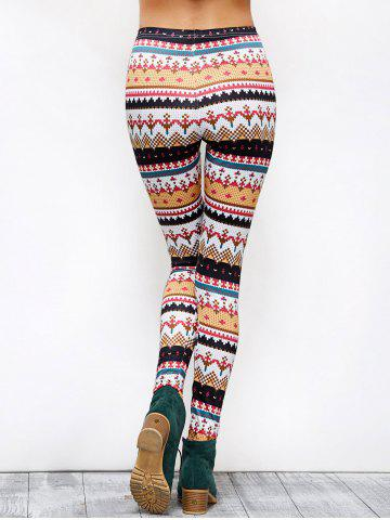 New Tight Christmas Print Leggings - XL COLORMIX Mobile
