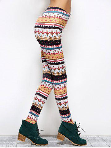 Affordable Tight Christmas Print Leggings - XL COLORMIX Mobile
