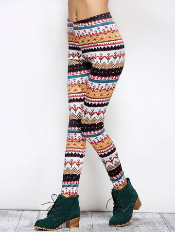 Trendy Tight Christmas Print Leggings - S COLORMIX Mobile