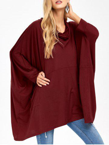 Cheap Batwing Sleeve Double Pockets Blouse