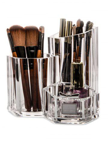 New Acrylic Brush Holder Makeup Organizer - TRANSPARENT  Mobile