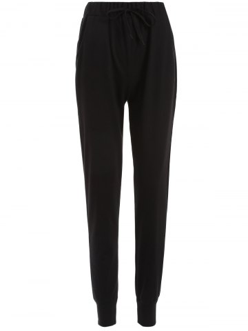 Cheap Active String Track Pants BLACK L
