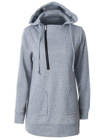 Hooded Half Zipper Sweat à capuche
