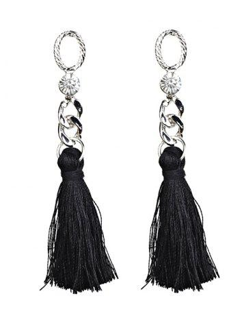 Unique Statement Rhinestone Tassel Dangle Earrings