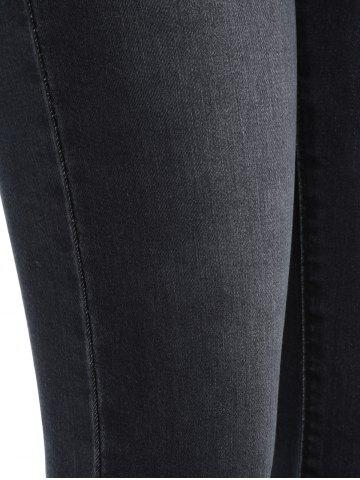 Outfits Frayed Skinny Flare Jeans - 4XL BLACK Mobile