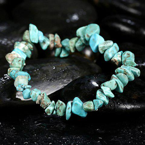 Sale Natural Stone Turquoise Bracelet - LAKE GREEN  Mobile
