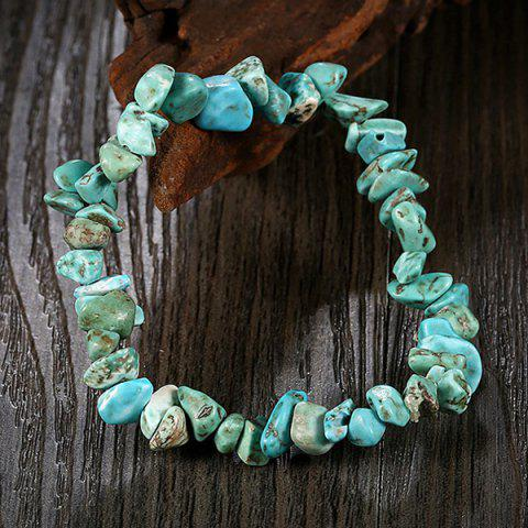 Online Natural Stone Turquoise Bracelet - LAKE GREEN  Mobile