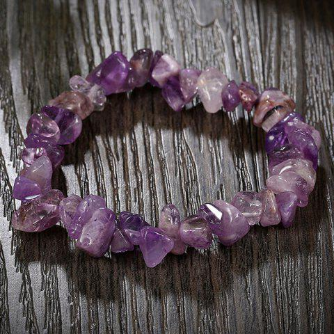 Online Geometry Natural Stone Bracelet - PURPLE  Mobile