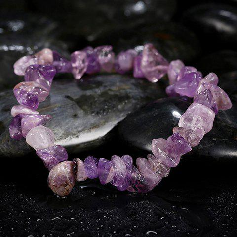 Discount Geometry Natural Stone Bracelet - PURPLE  Mobile