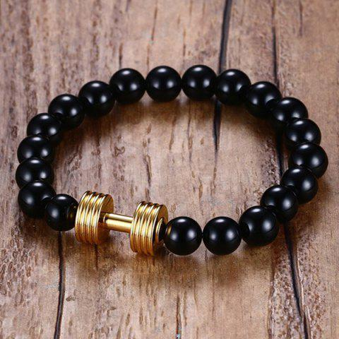 Buy Barbell Beaded Bracelet - GOLDEN  Mobile