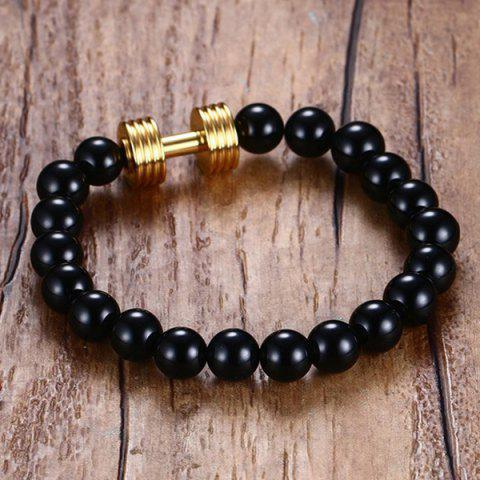 Best Barbell Beaded Bracelet - GOLDEN  Mobile