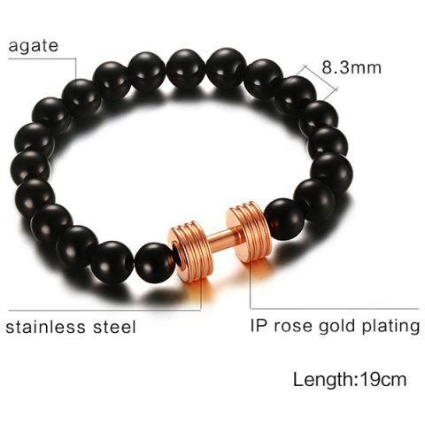 Outfits Barbell Beads Bracelet - ROSE GOLD  Mobile