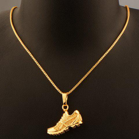 Fancy Sport Shoes Shape Zircon Pendant Necklace