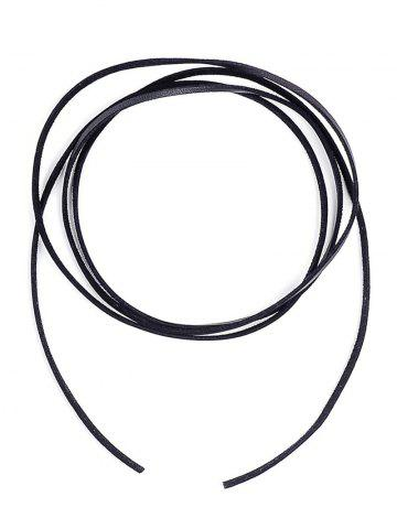 Trendy Faux Leather Rope Vintage Necklace BLACK
