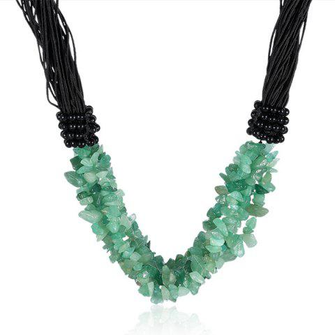 Latest Natural Stone Beads Necklace GREEN