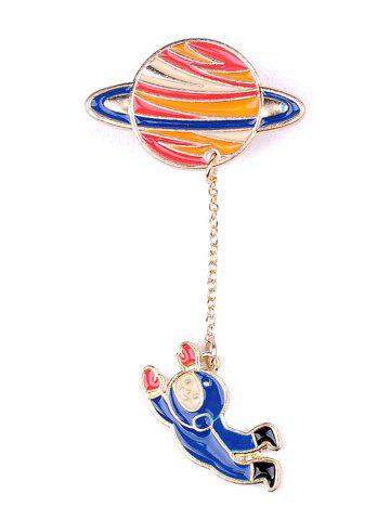 Outfit Star Moon Rocket Spaceman Brooch Set - COLORMIX  Mobile