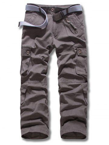5d060f012b6 Plus Size Zipper Fly Multi Pockets Design Cargo Pants