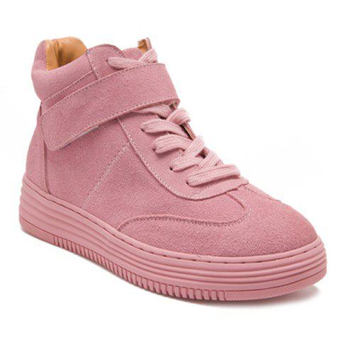 Cheap High Top Suede Tie Up Athletic Shoes
