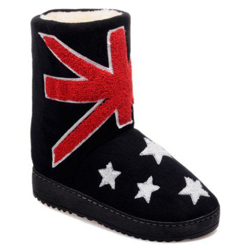 Store Colour Block Star Flat Heel Snow Boots