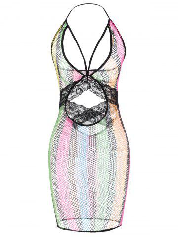 Affordable Iridescence Cut Out Babydolls COLORMIX ONE SIZE