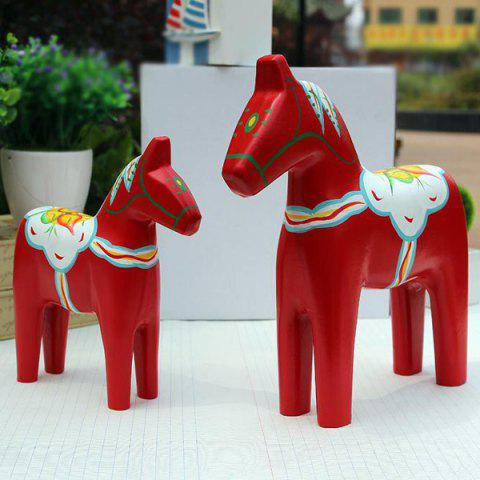 Unique 2PCS Colored Drawing Hobbyhorse Craft Home Decoration
