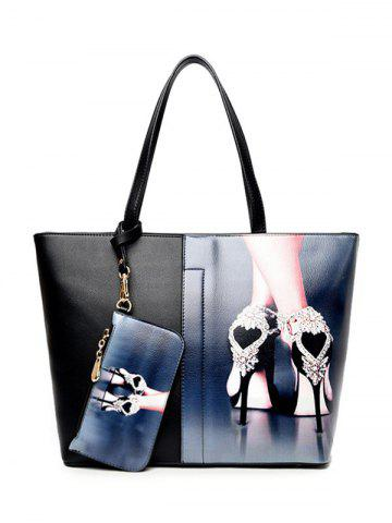Discount Painted Shoulder Bag With Wristlet