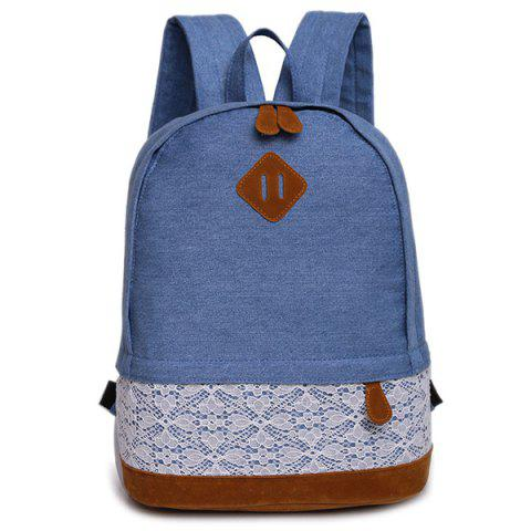 Best Lace Insert Denim Backpack