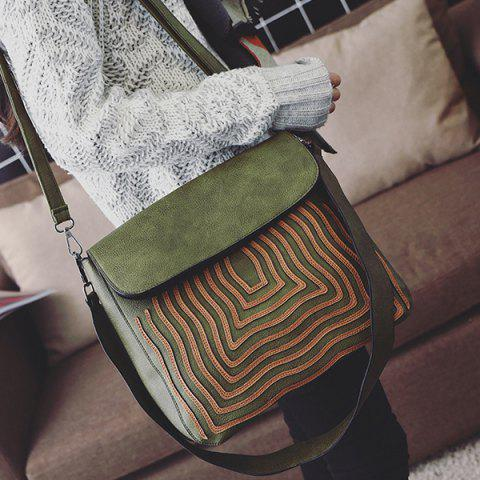 Outfit PU Leather Growth Ring Crossbody Bag
