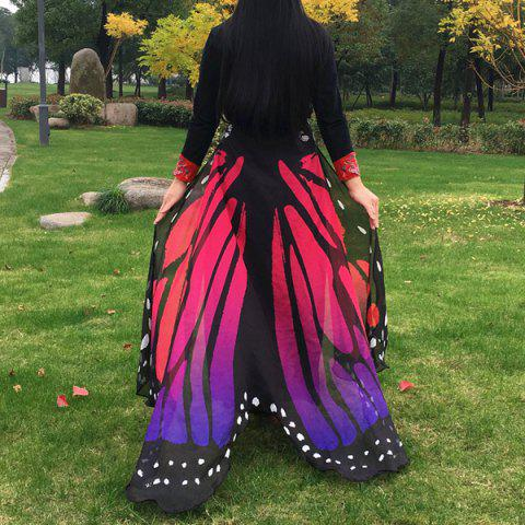 Buy Butterfly Wing Cape Scarf - RED  Mobile