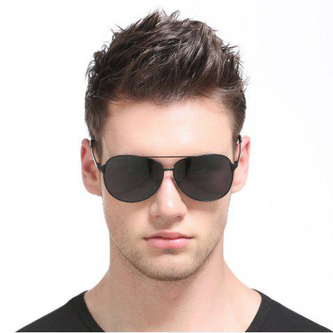 New Anti UV Cross Bar Metal Pilot Sunglasses