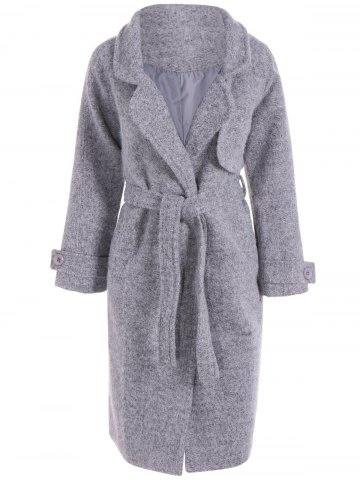 Outfit Belted Wool Blend Long Coat