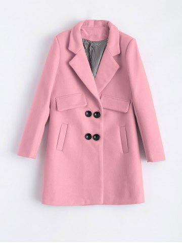 Shops Lapel Candy Color Pea Coat
