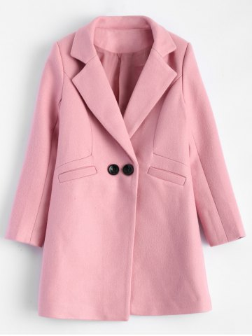 Online Lapel Candy Color Wool Blend Coat