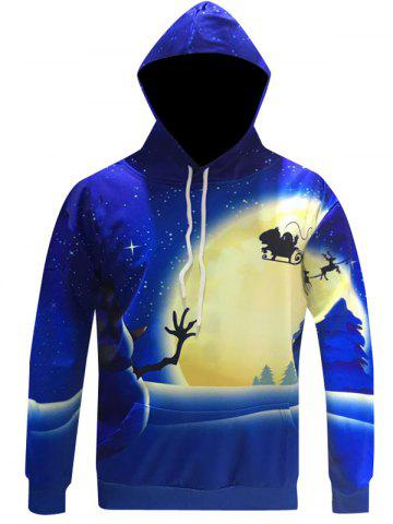 Shops Snowman Print Pullover Christmas Patterned Hoodies BLUE 3XL