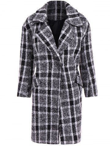 Buy Flap Pocket Checked Coat