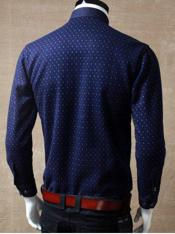Store Long Sleeve Printed Pocket Shirt - L RED Mobile