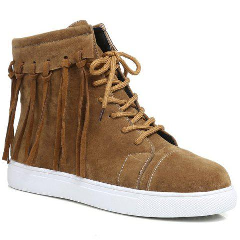 Hot Casual Fringe Lace Up Short Boots