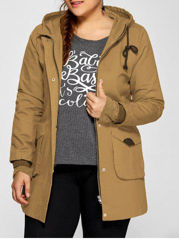 Outfit Double Pockets Utility Long Jacket with Hood