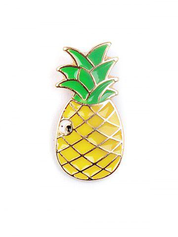 Trendy Pineapple Rainbow Watermelon Glasses Brooch Set - COLORMIX  Mobile