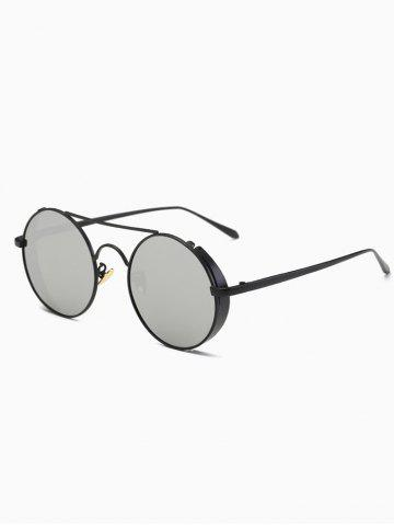 Buy Vintage Crossbar Round Mirrored Sunglasses