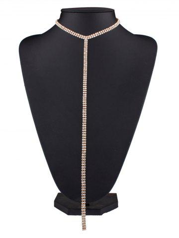 Hot Alloy Long Rhinestone Necklace