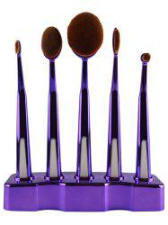 5 Pcs Nylon Makeup Brushes Set with Brush Stand