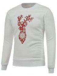 Snowflake Deer Print Christmas Graphic Sweatshirts