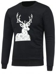 Print Crew Neck Christmas Sweatshirt