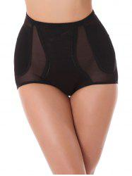 Mid Wiast See-Thru Panties Cut Out - Noir 2XL