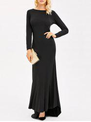 Backless Maxi Formal Long Sleeve Evening Dress