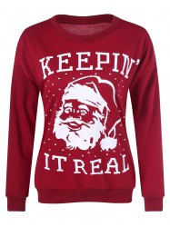 Christmas Santa Claus Patterned Sweatshirt